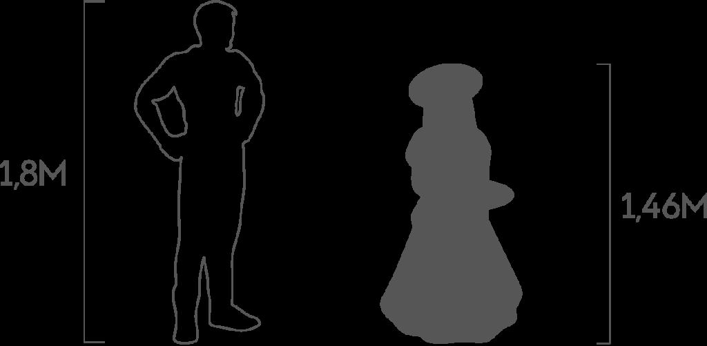 пропорции девочка с подносом