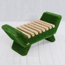 садовая скамейка светлая