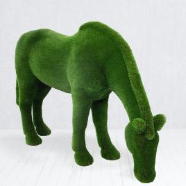 Топиарная фигура Лошадь на лугу
