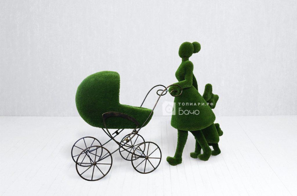 Топиарная фигура мама с детьми