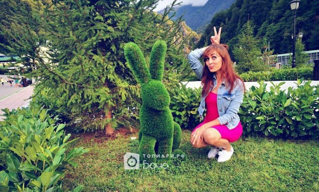 Садовая фигура Кролик сидячий