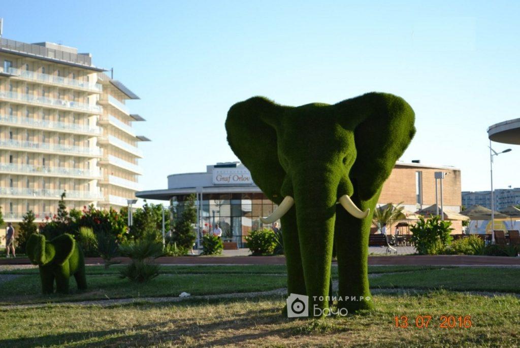 Ландшафтная фигура Слон большой