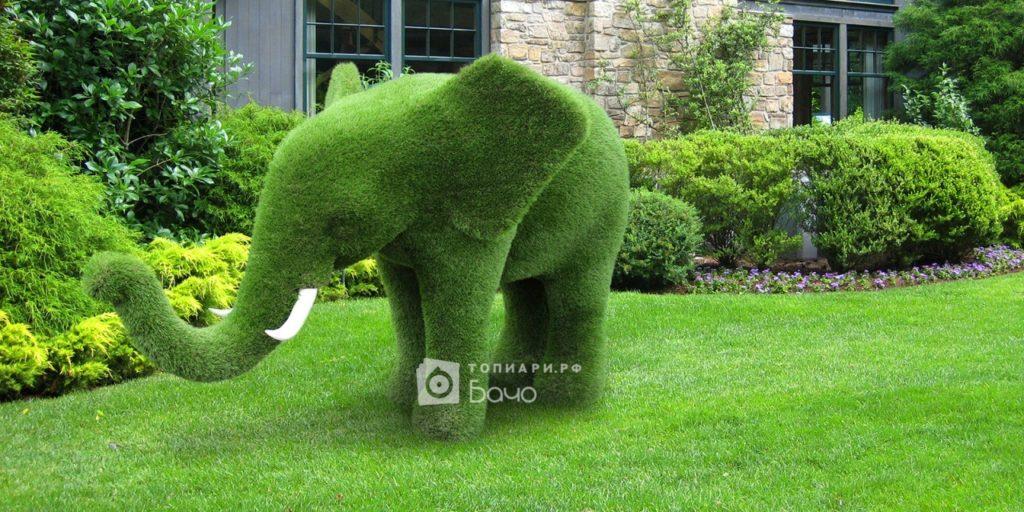 Топиарная фигура слон средний 3