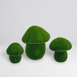 садовые фигуры белые грибы