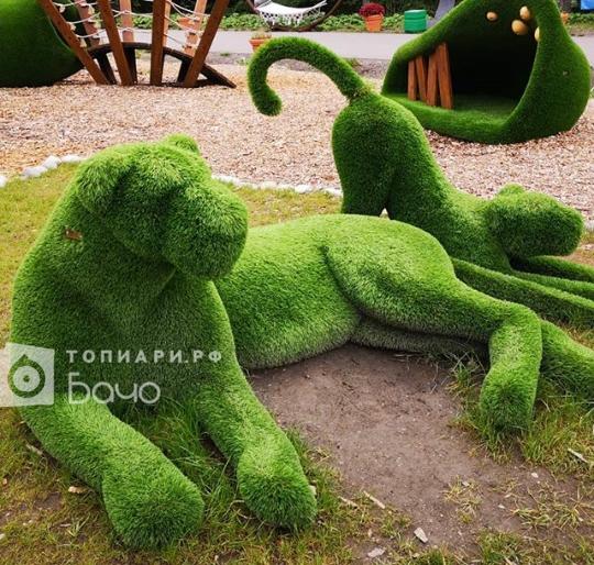 садовая фигура львенок