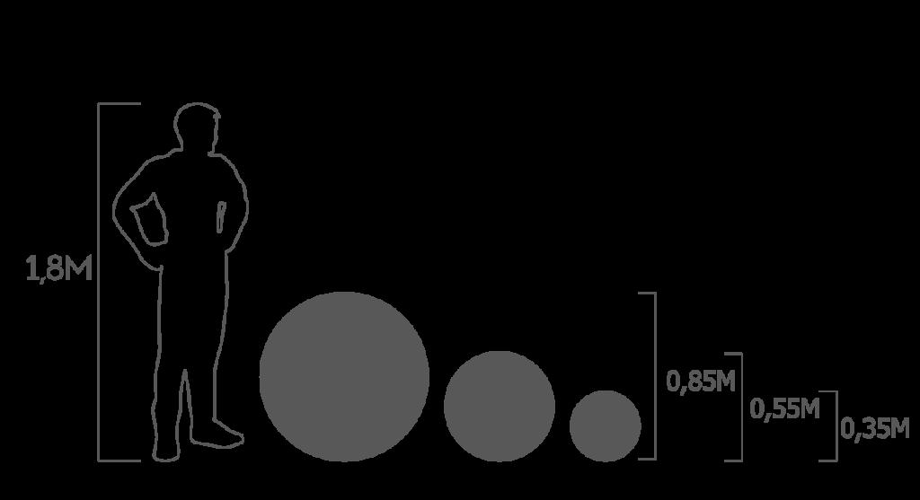 пропорции шары
