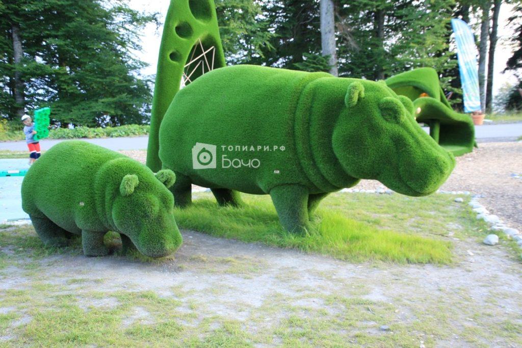 Ландшафтная фигура бегемот