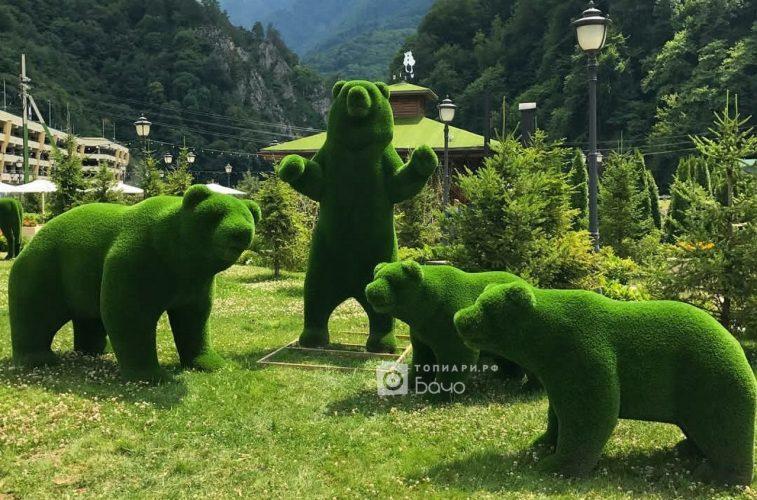 Топиарные фигуры Медведи