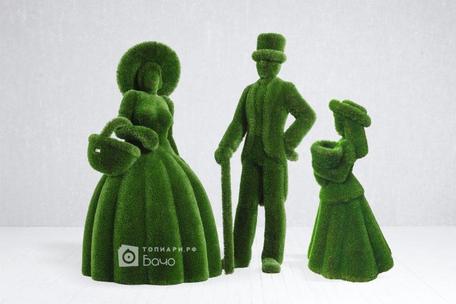 Топиарная фигура Девочка с букетом