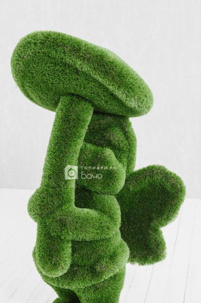Садовая фигура Девочка с грибом