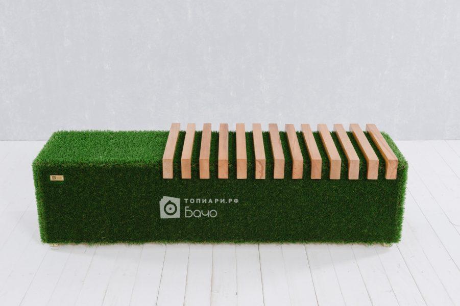 топиарная скамейка светлая