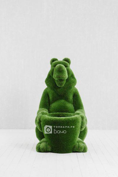 Топиарная фигура Медведь с корзиной 1