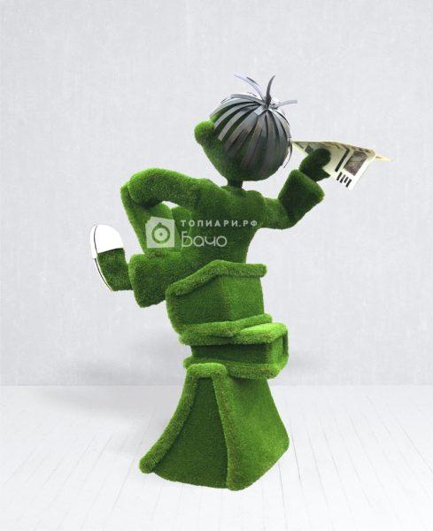 топиарная фигура мальчик с книгой
