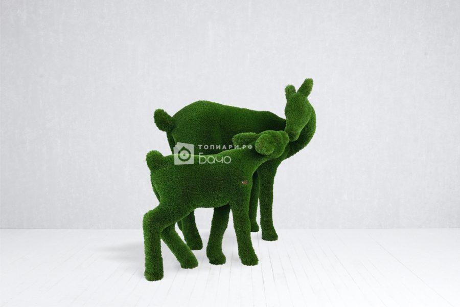 садовая фигура олень малый