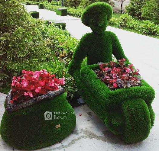 Садовая фигура кошелек