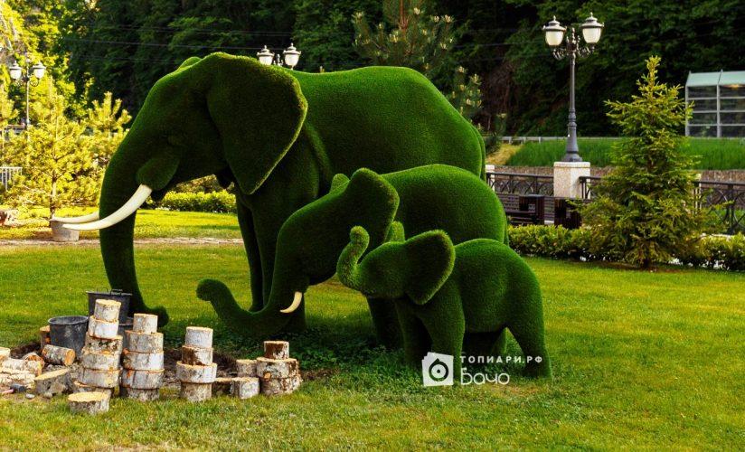 Ландшафтная фигура Слон большой 2