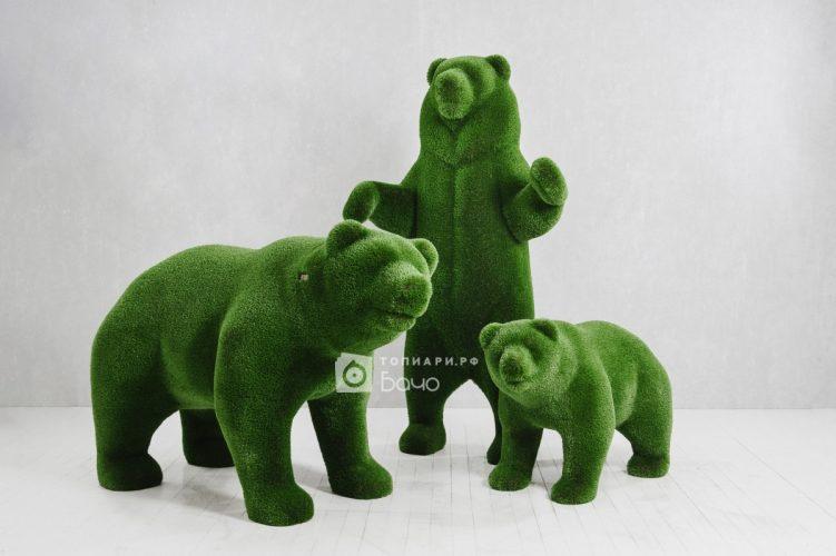 Топиарная композиция медведи