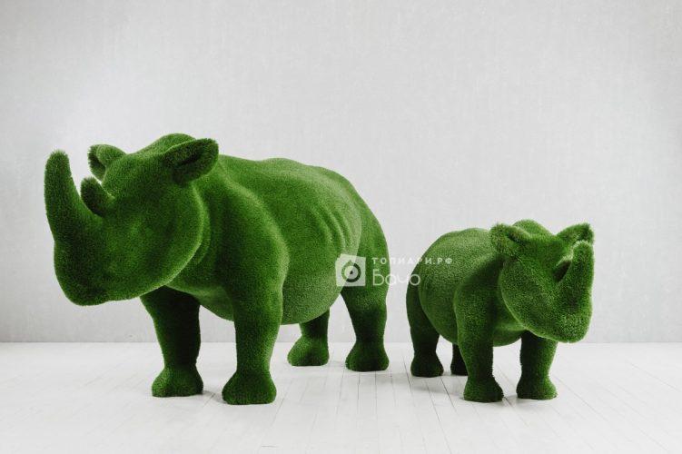 Топиарная композиция носороги