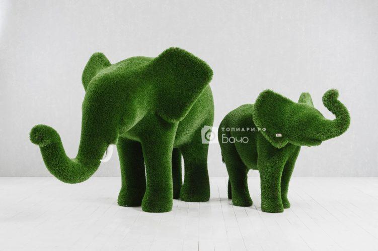 Топиарная композиция слоны
